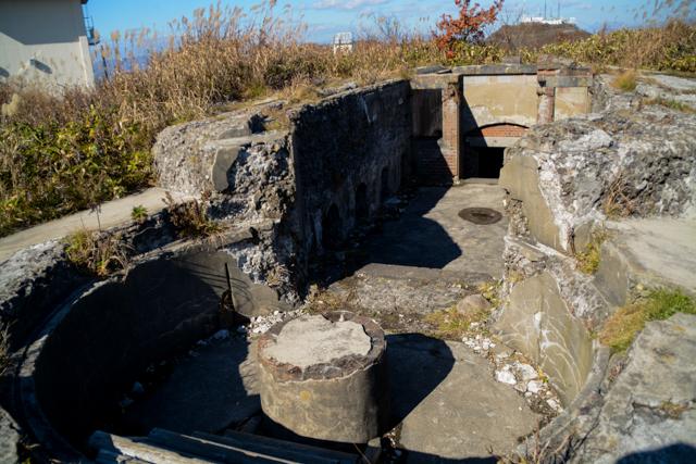 千畳敷砲台跡 函館山 要塞