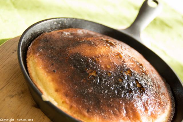 魚焼きグリルでカボチャ入りホットケーキ