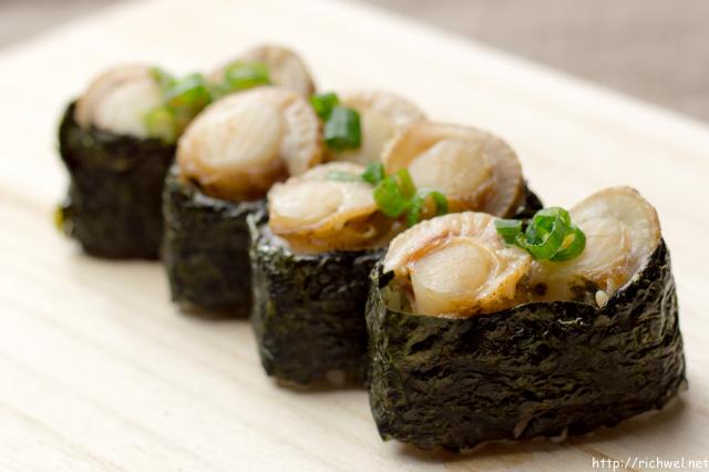 ベビーホタテ軍艦巻き ほたて寿司