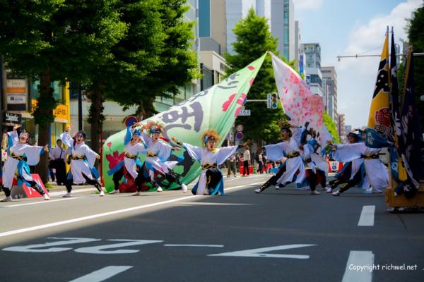ヨサコイソーラン祭り2015 もり騒乱桜 一番街 三越