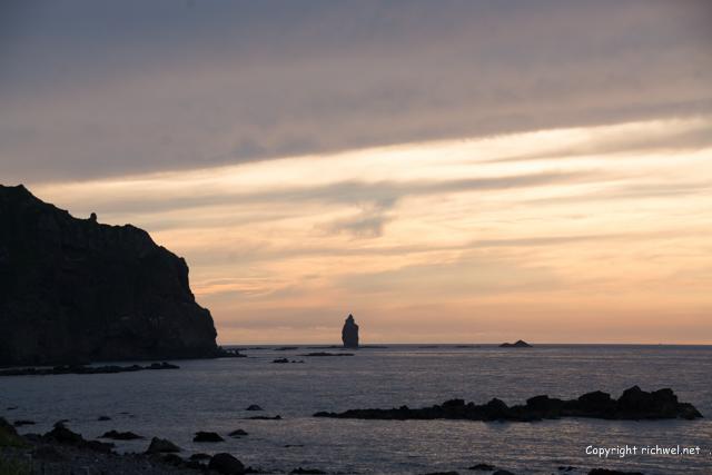積丹ブルー 神威岬 神威岩