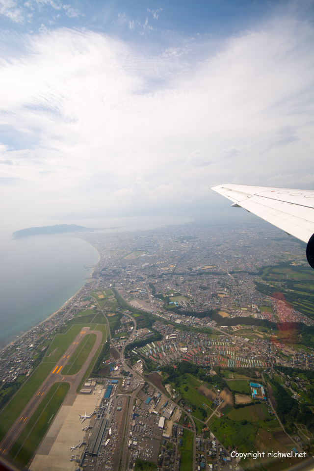 函館空港上空 HAC