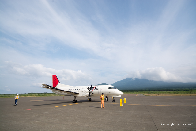 HAC 234 飛行機 サーブ・スカニア社 SAAB340B  利尻山