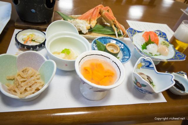 田中屋ひなげし館 利尻島の宿 夕食