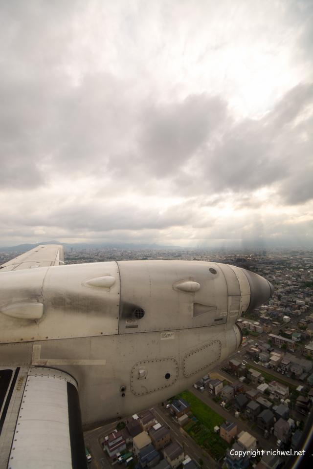 飛行機の窓から 札幌