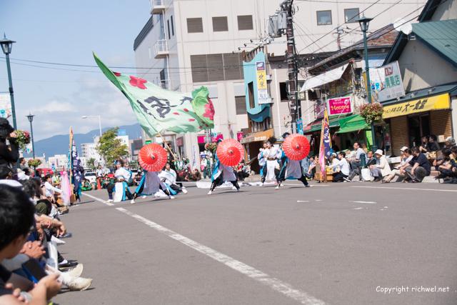YOSAKOIソーラン祭り 道南大会 2015 もり・騒乱桜