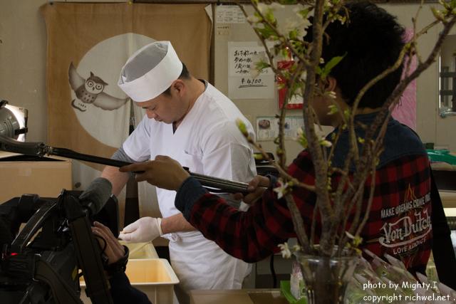BS日テレ「北海道すたいる」 昆布最中本舗七福堂 リポーター里蘭