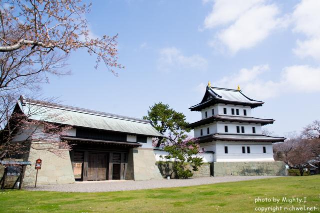 松前町の桜(さくら) 松前城