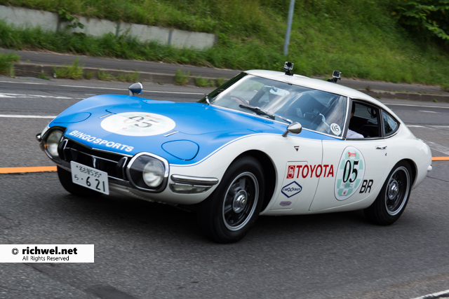 北海道クラッシクカーラリー 2016 TOYOTA 2000GT 1968