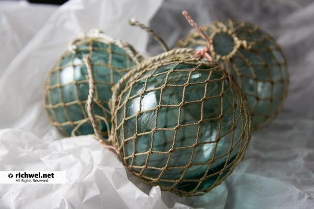 漁具 ガラス製浮き玉(ビン玉)