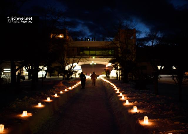 北海道 森町 オニウシ雪ほたる イベント